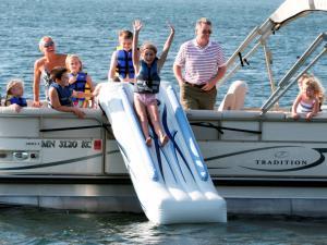 Rave Pontoon Boat Slide