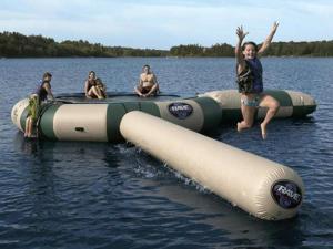 Rave Aqua Jump Water Park Northwoods
